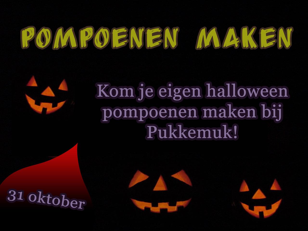 31 Oktober Halloween Feest.Halloween Pompoenen Maken Recreatiepark Pukkemuk