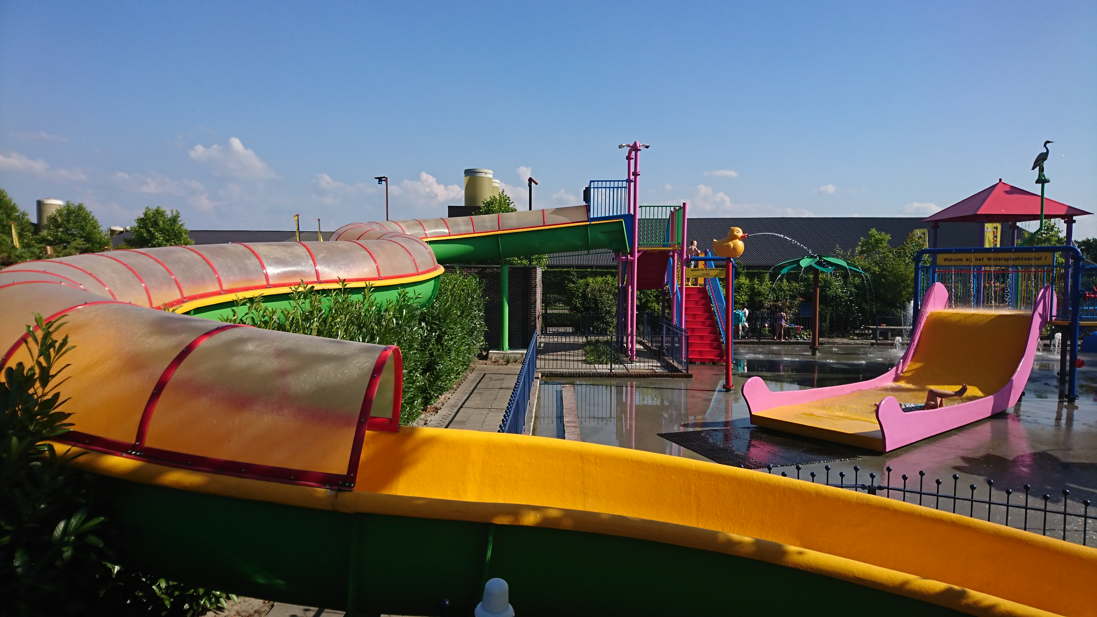 Waterglijbaan bij Pukkemuk